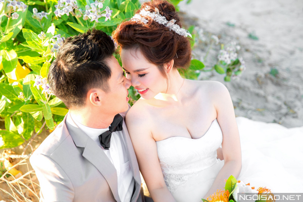Cặp đôi chụp ảnh cưới tuyệt đẹp ở Hồ Cốc 3