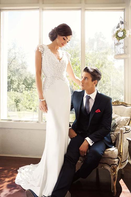 Váy cưới ren thanh lịch, nhẹ nhàng tôn vóc dáng