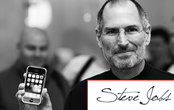 Cùng năm sinh với Bill Gates,Chữ ký nắn nót của Steve Jobs - tác giả của những chiếc điện thoại iPhone huyền thoại hãng Apple.