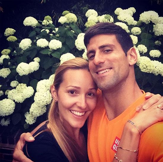 Mùa hè vừa qua, Djokovic và bà xã Jelena Ristic kỷ niệm 10 năm yêu nhau.