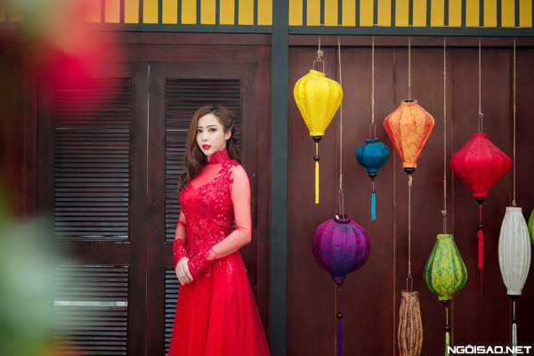 Mai Diệu Linh xinh đẹp gợi ý áo dài cưới