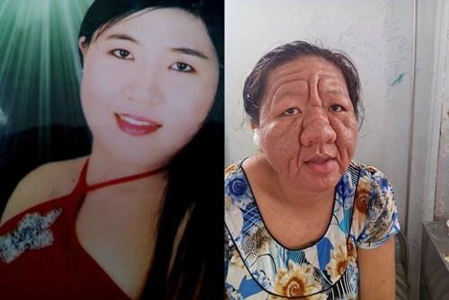 """Tha Ri trước và sau khi bị hóa thành """"bà lão"""". Ảnh: Khoa học Đời sống."""
