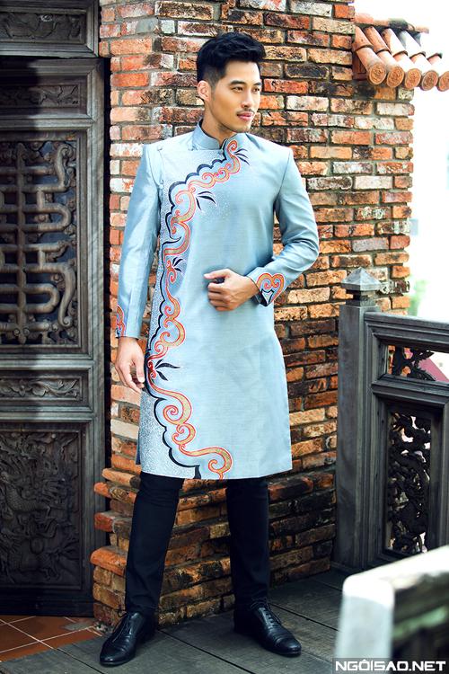 7 mẫu áo dài cưới cách tân cho chú rể