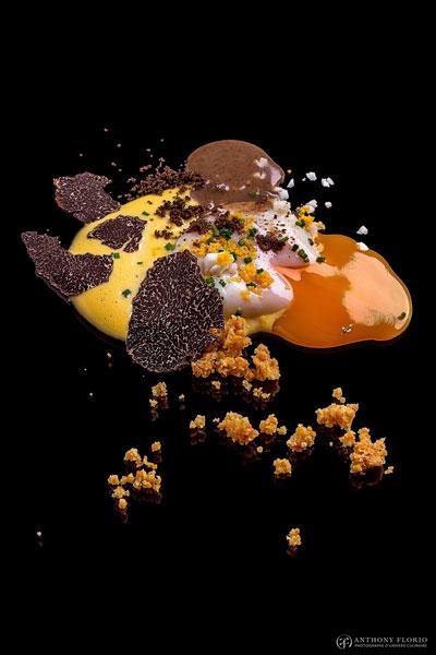 Món trứng nổi tiếng với sự chế biến cầu kỳ củaChef Hervé.