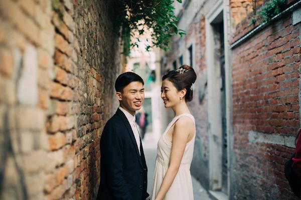 Cặp đôi chụp ảnh ở Venice nhân...