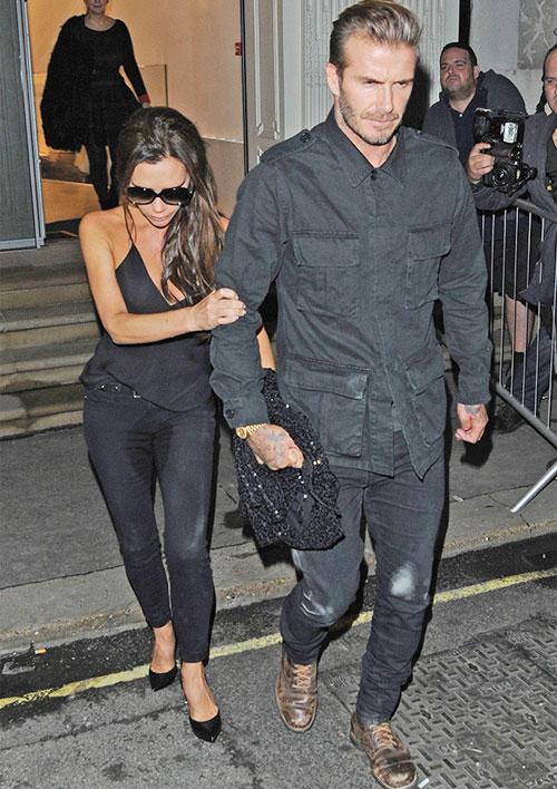 Hôm 22/9, Vic tổ chức tiệc tưng bừng nhân dịp một năm khai trương cửa hàng thời trang mang tên mình tại phố Dover, Mayfair, London.