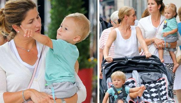 Cặp song sinh Leo và Lenny nhà Federer đã được hơn một tuổi. Ảnh: Twitter.