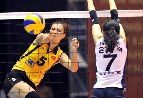 Hoa khôi bóng chuyền Kim Huệ sang Thái đấu thuê