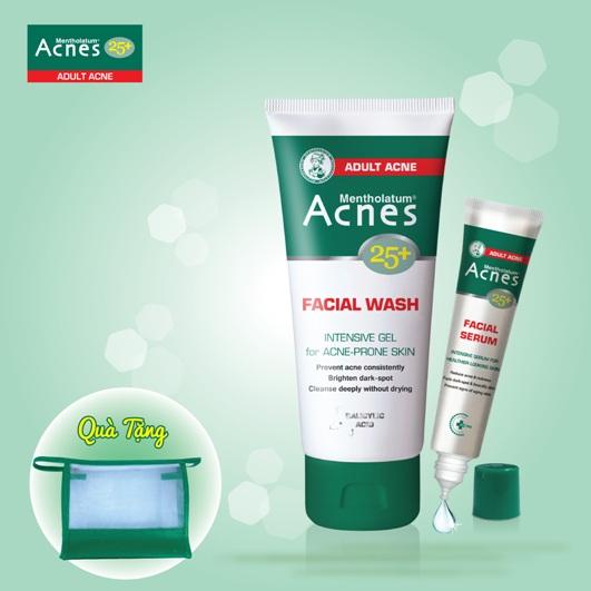 Bộ sản phẩm Acnes 25+ trị mụn chuyên biệt