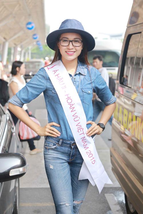 Á hậu 2 Đặng Thị Lệ Hằng từng đăng quang Quán quân Vietnam Elite Model Look 2014. Cô gái quê Đà Nẵng cao 1m74, nặng 52kg, chỉ số 81-63-87.