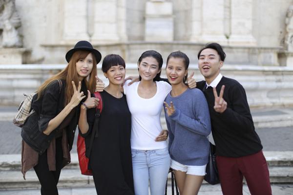 Kha Mỹ Vân và top 4 Next Top chụp ảnh tại Italy