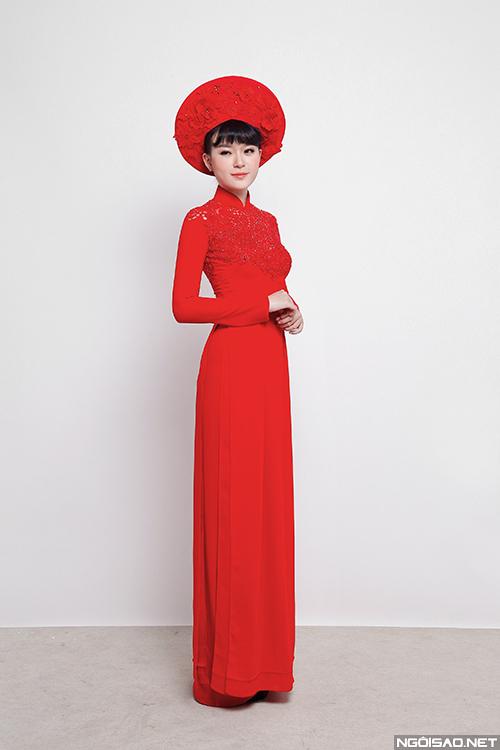 Áo dài cưới pha nét hiện đại cho cô dâu Việt