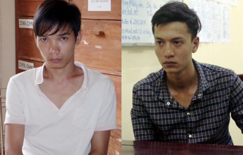 Vũ Văn Tiến (áo trắng) và Nguyễn Hải Dương. Ảnh: Chế Bắc
