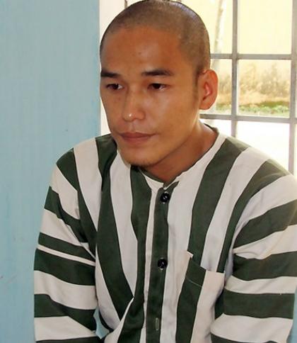 Nghi can Trần Đình Thoại được xác định đã mua con dao mà Dương dùng để giết bà Nga. Ảnh: Khánh Vinh