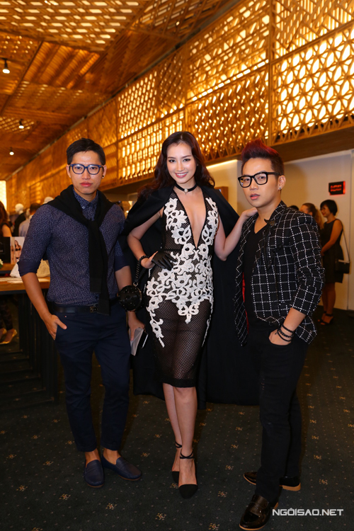 Stylist Đinh Thành Long, Trúc Diễm và nhà thiết kế Chung Thanh Phong.