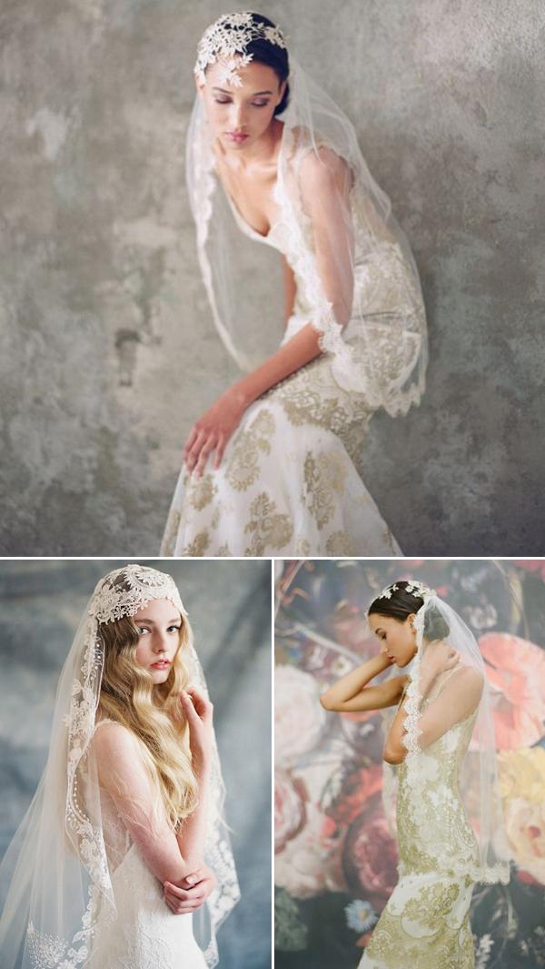 Chọn voan đắp ren tôn váy cưới quyến rũ