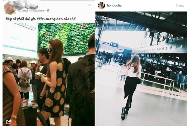 Lộ ảnh Hà Hồ và người tình đại gia ở sân bay