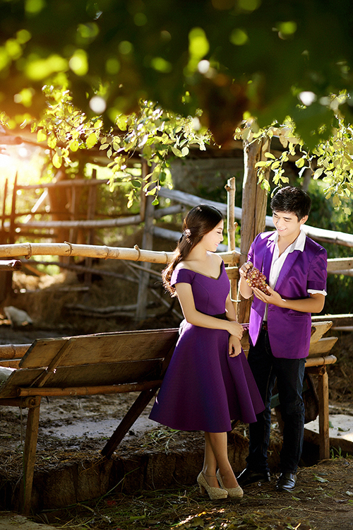Chuyện tình vườn nho lãng mạn trong ảnh cưới