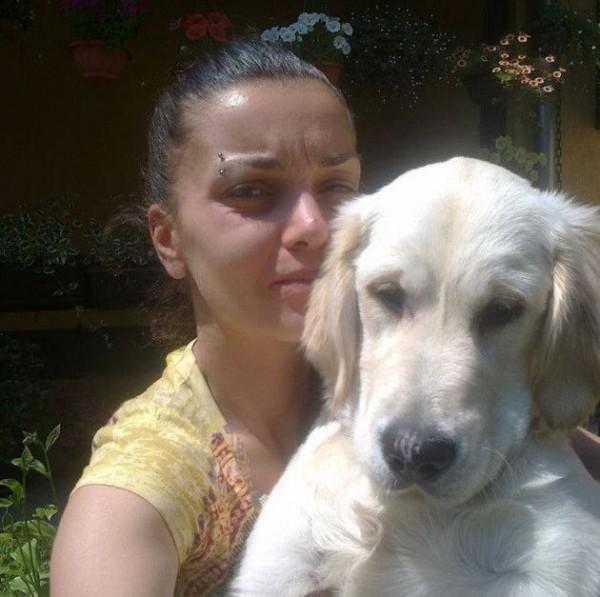 Tanja rất yêu thương chó Leo. Ảnh: