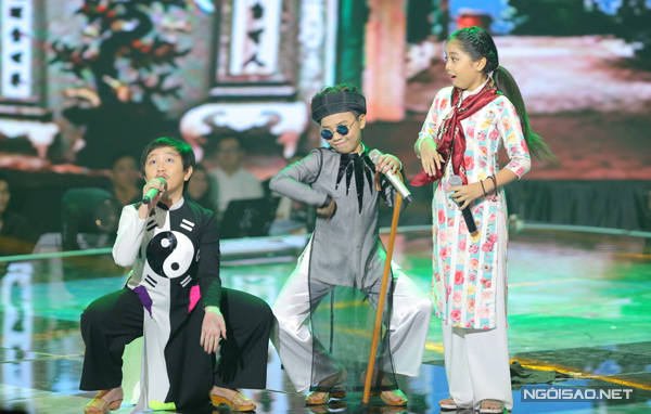 Không hoà giọng với ca sĩ nổi tiếng, Công Quốc lại có tiết mục độc đáo cùng hai học trò Thế Khanh và Nhã Thy của Cẩm Ly. 3 gương mặt nhí cùng hát dân ca và thể hiện khả năng diễn xuất hài hước, mang lại tiếng cười cho khán giả ở trường quay.