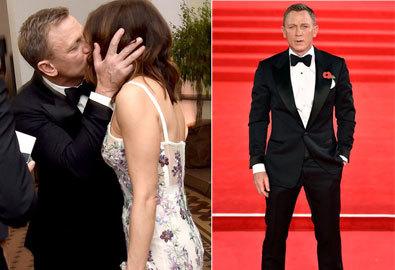 'Điệp viên 007' hôn vợ đắm đuối tại lễ ra mắt phim