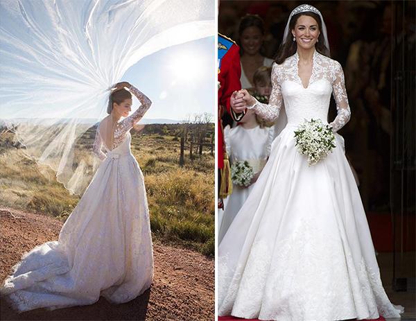 Sao Hollywood nói về váy cưới giống Công nương