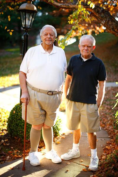 Nino Esposito (trái) và bạn tình. Ảnh: Nydailynews