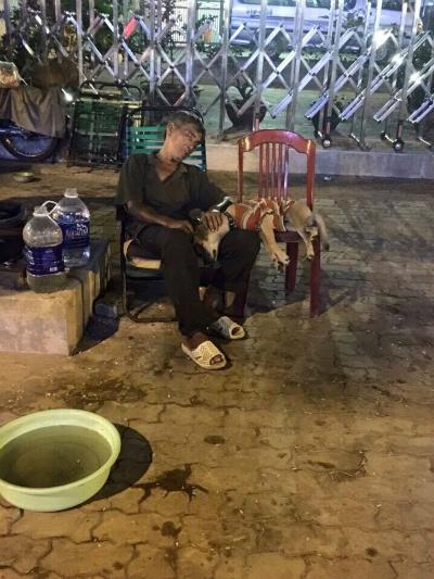 Bức ảnh ấm áp Chó không chê chủ nghèo