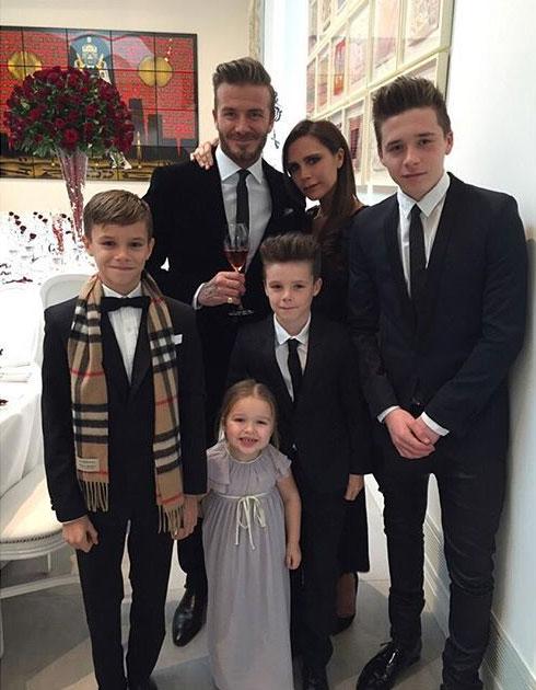 Gia đình hạnh phúc của Becks và Vic.