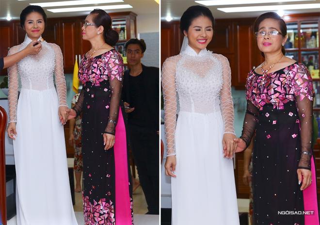 NTK kể về áo dài cưới đính ngọc trai của Vân Trang