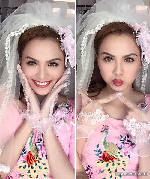 Style cô dâu và áo dài cưới thập niên 90 của Diễm Hương