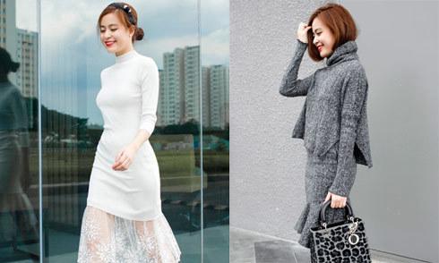 Phong cách quý cô ngọt ngào của Hoàng Thùy Linh