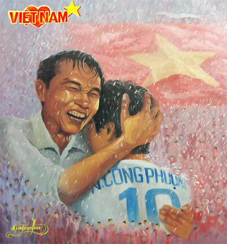 cong-phuong-om-bo-duoi-mua-len-tranh-ve