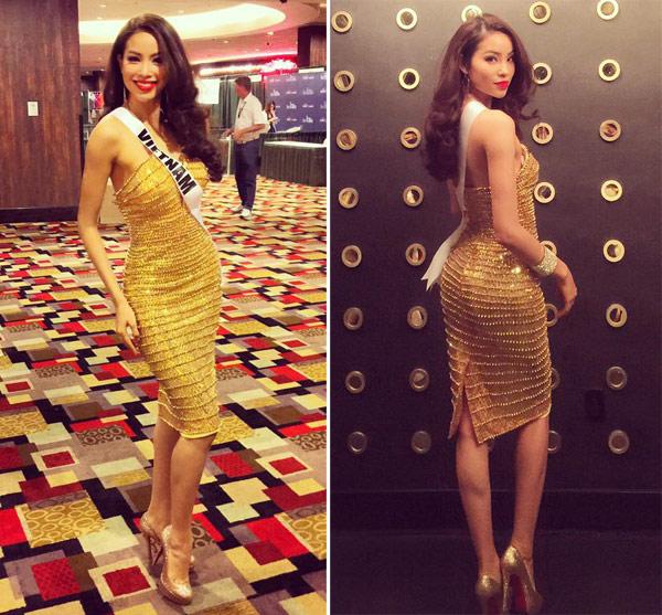 Phạm Hương chọn váy áo linh hoạt ở Miss Universe