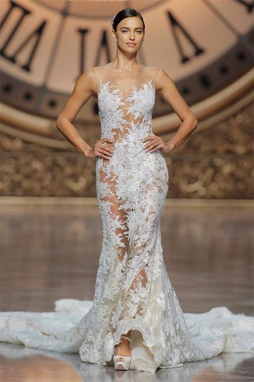 Mẫu váy cưới xuyên thấu tuyệt đẹp dành cho cô dâu sexy 2