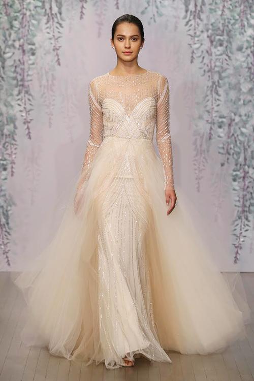 Mẫu váy cưới xuyên thấu tuyệt đẹp dành cho cô dâu sexy 6
