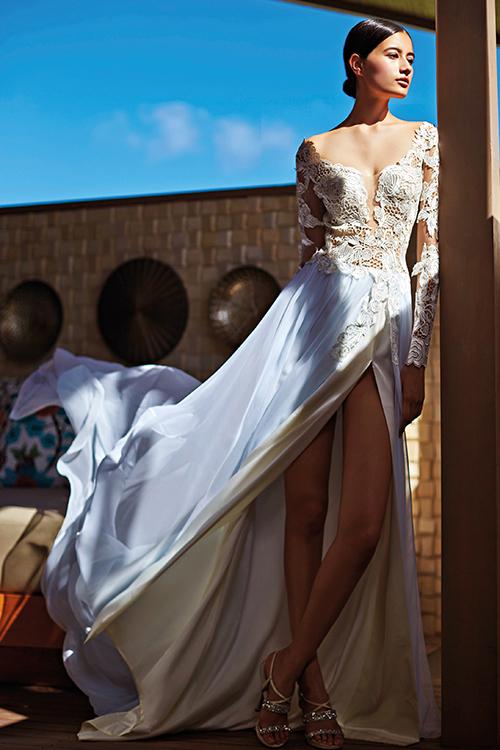 Mẫu váy cưới xuyên thấu tuyệt đẹp dành cho cô dâu sexy 8