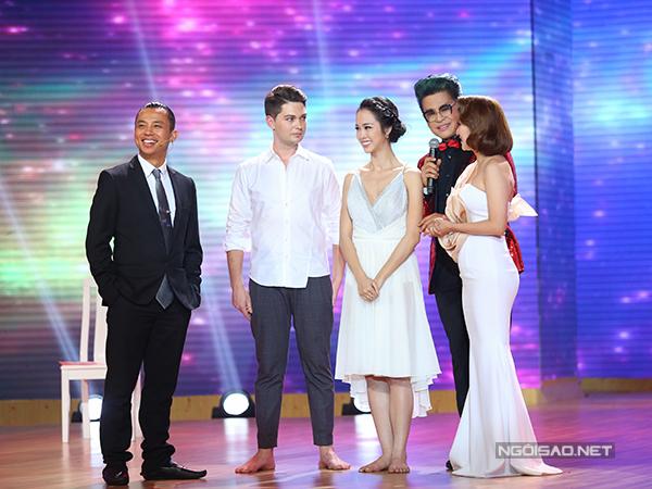 Hai giám khảo Chí Anh và Khánh Thi đã cùng lên sân khấu để
