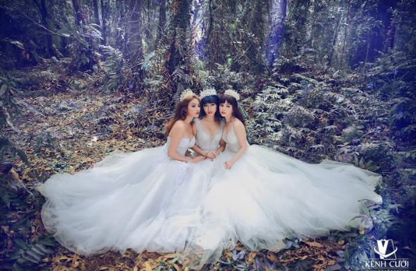 Bộ 3 gái ế gây chú ý khi mặc váy cưới 6