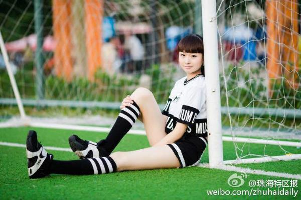 Cô bé 13 tuổi mơ ước được làm diễn viên trong tương lai. Ảnh: Uweibo