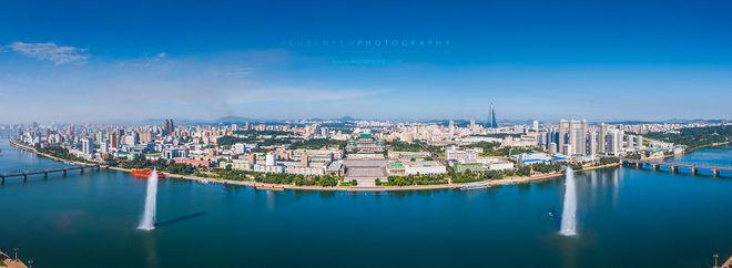 Toàn cảnh Bình Nhưỡng nhìn từ trên cao.