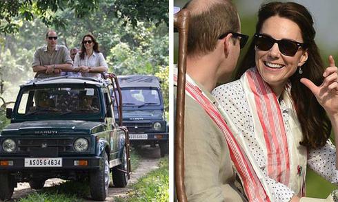 William - Kate vui vẻ thăm khu bảo tồn động vật ở Ấn Độ