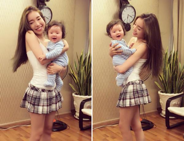 Elly Trần khoe ảnh con trai Túc Mạch đáng yêu không kém chị gái Cadie: