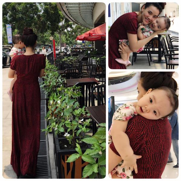 Trang Nhung hạnh phúc bên công chúa nhỏ: