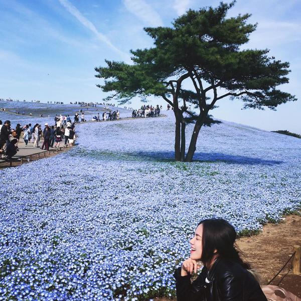 chi-em-phuong-linh-choang-ngop-giua-canh-dong-hoa-xanh-2