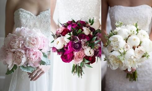 Gợi ý 30 bó hoa mẫu đơn lãng mạn cho cô dâu