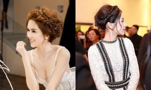 Ngọc Trinh, Chi Pu gợi ý tóc tết lãng mạn cho cô dâu