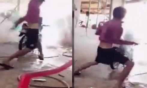 Video rửa xe 'bá đạo' theo phong cách 'Tôn Ngộ Không'