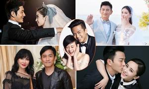 5 cặp vợ chồng nghệ sĩ hạnh phúc nhất Cbiz
