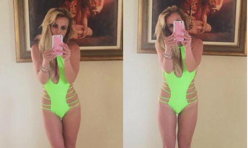 Britney Spears hào hứng khoe ba vòng hoàn hảo